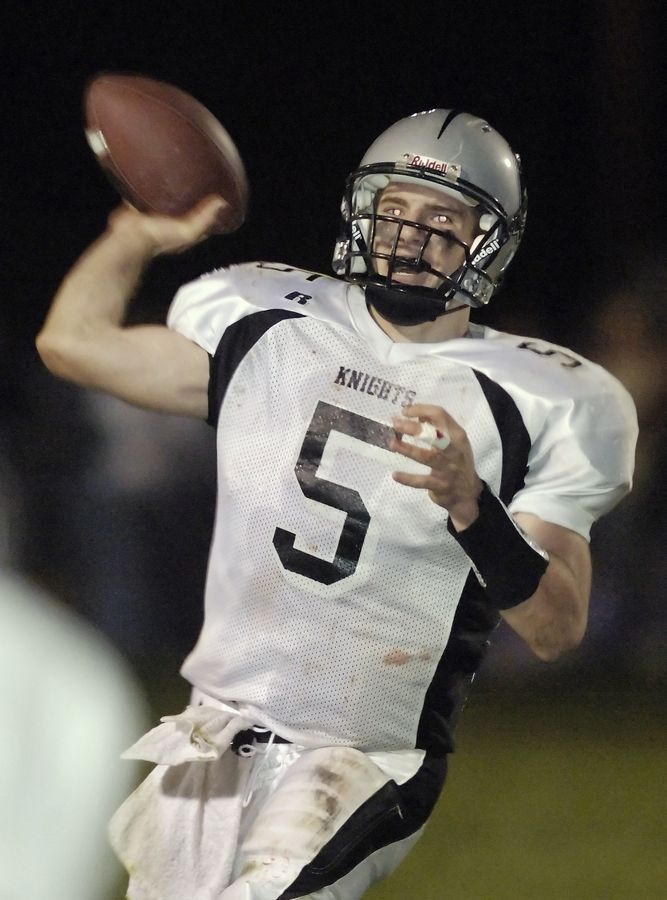 Kaneland quarterback Boone Thorgesen threw for nearly 4,000 yards and 43 touchdowns as a senior in 2007 when the Knights went 11-2 and reached the Class 5A semifinals.