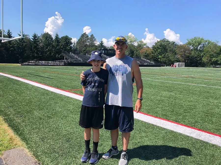 Brady Seaburg has created a website featuring more than 250 football stadiums he and his family have visited. His father, Brad, is head coach at Cary-Grove High School.